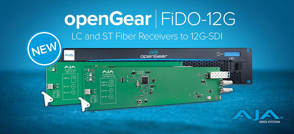 AJA, 새로운 openGear® Fiber to 12G-SDI 컨버터 발표